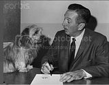 Walt Disney with Bobby star of 'Greyfriars Bobby'